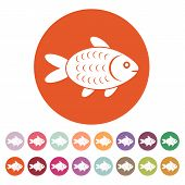 picture of fish icon  - The fish icon - JPG