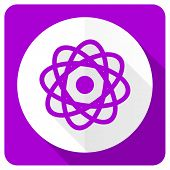 picture of atomizer  - atom pink flat icon   - JPG