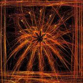 picture of plasmatic  - Plasmatic floral motif in simple frame - JPG