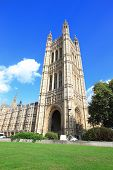 picture of palace  - Houses of Parliament Westminster Palace The Palace of Westminster gothic architecture in London United Kingdom uk - JPG