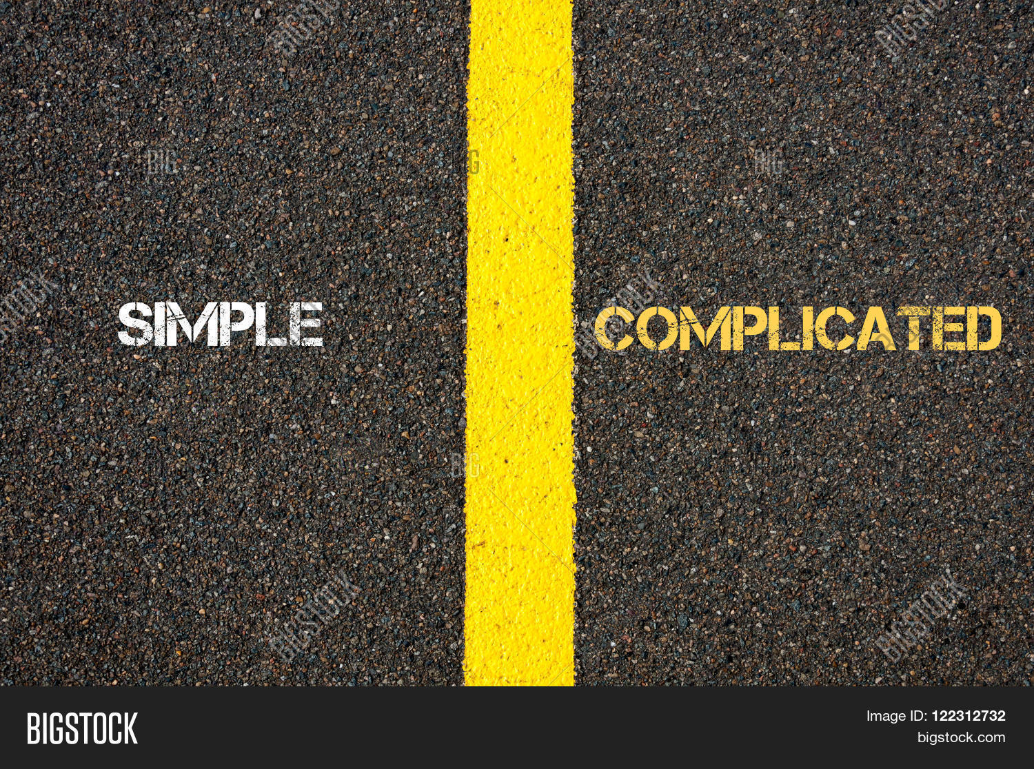 Worksheet Antonym For Simple antonym concept of simple versus complicated stock photo complicated