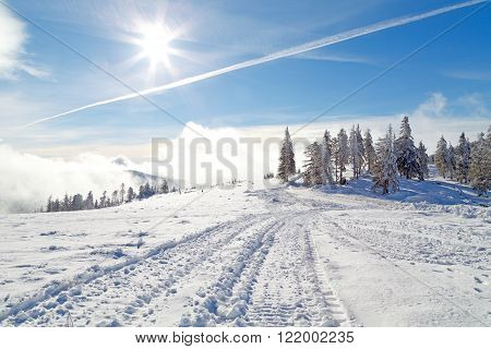 A photo of a beautiful winter landscape
