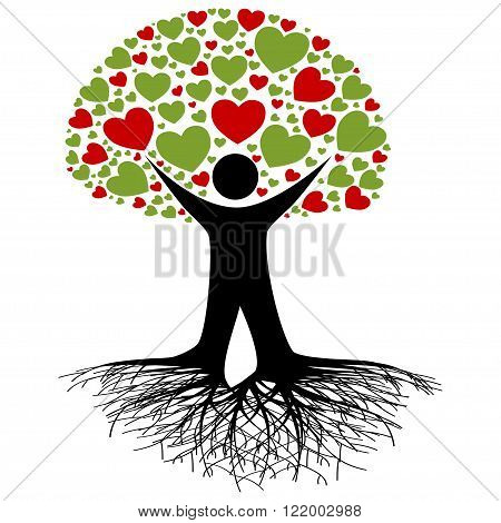 An illustration of a tree as a symbol of environmental protection.