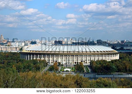 MOSCOW, RUSSIA - SEPTEMBER 19, 2012: Grand Sports Arena in Moscow in the Luzhniki sports complex
