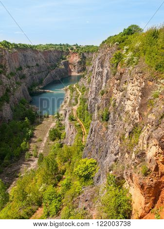 Old limestone quarry
