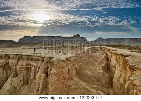 Stars Valley. Mountain range at Qeshm Island, Iran
