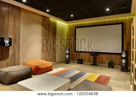 interior design home theater luxury country house