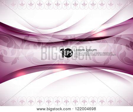 elegant bent frame foliage elements abstract design. eps10 vector