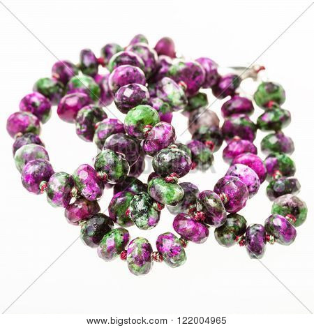 Tangled Necklace From Zoisite Gemstone Beads