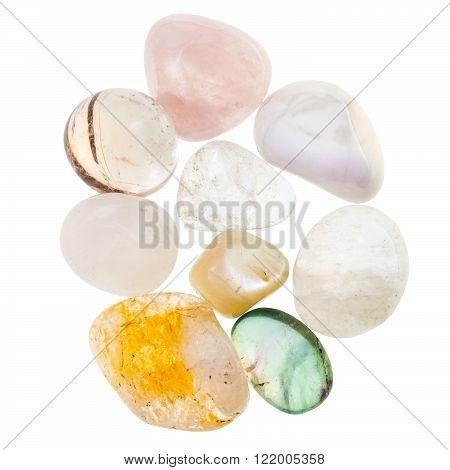 Pile Of Transparent Natural Mineral Gemstones