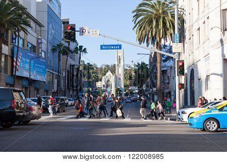 Hollywood Blvd Crosswalk