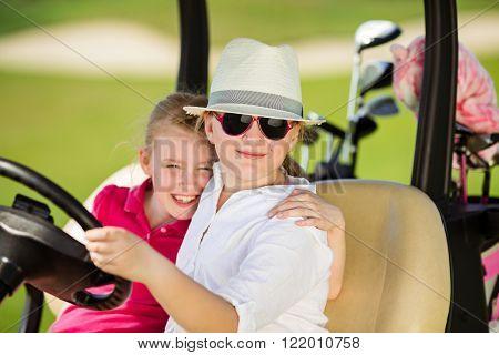 Kids on golf