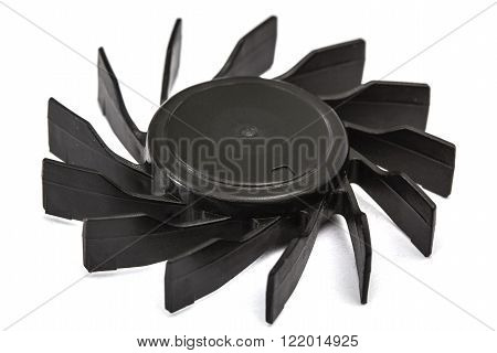 Propellers of fan isolated on white background