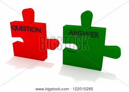 Red and green puzzle question and answer