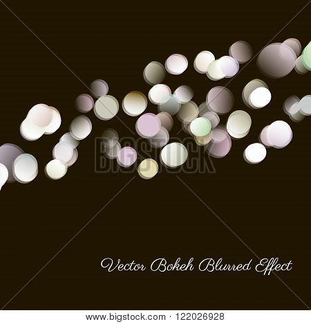 Bokeh blurred desaturated