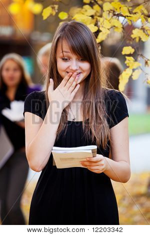 Student shocked by the results of the test