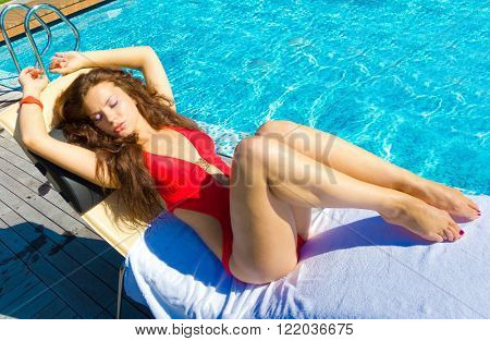 Resting Laying Babe