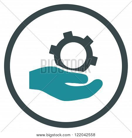 Engineering Service vector icon. Style is bicolor flat rounded iconic symbol, engineering service icon is drawn with soft blue colors on a white background.
