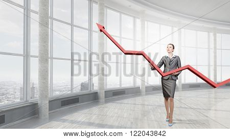 Woman presenting growth concept