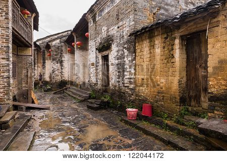 Ancient Streets Of Historical Town
