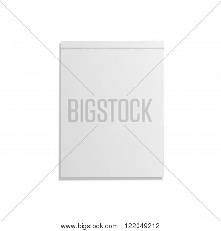 Empty closed realistic Notebook Template. Vector Illustration