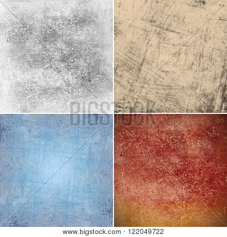 abstract colorful grunge backgrounds, grunge concrete wall