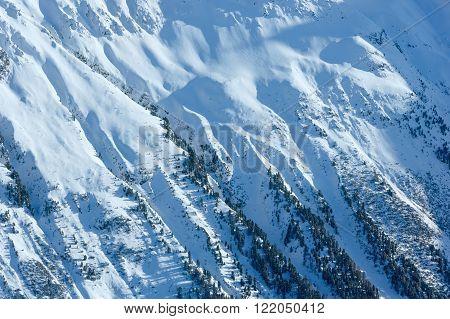 Winter Mountain Slope (austria).