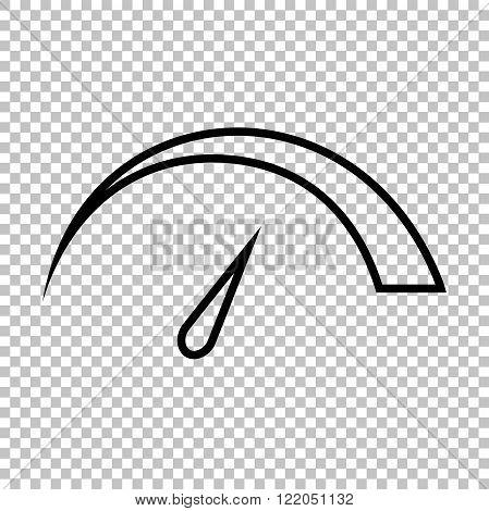 Speedometer sign. Line icon