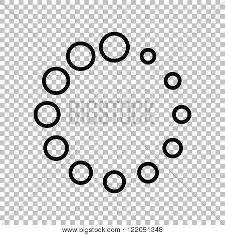 Circular loading sign