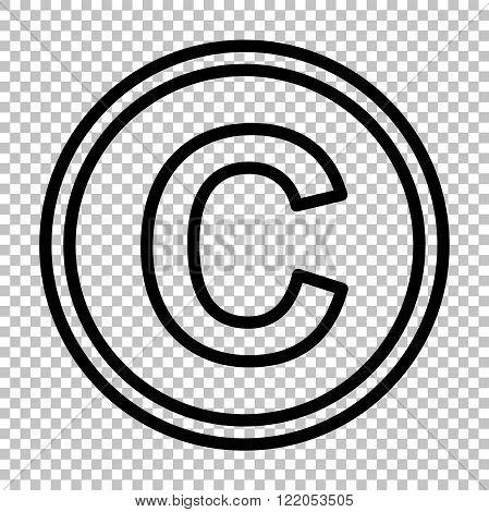 Copyright sign. Line icon