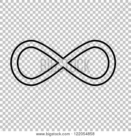 Limitless line vector icon