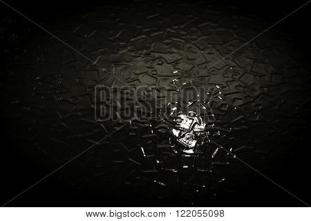 Fractured Diffused Light And Glass Background