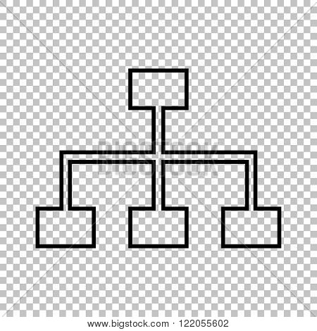 Site map line vector icon