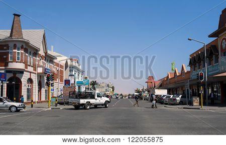 Street In Swakopmund Citz, Namibia