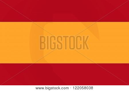 Spain  Long Shadow Flag With A Floppy Disk
