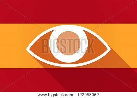 Spain  Long Shadow Flag With An Eye