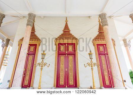 Phnom Penh, 17 Nov 2015: Main entrance into main hall of Silver Pagoda in Cambodia.