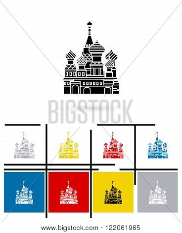 St Basil Cathedral icon or st Basil Cathedral sign. Vector st Basil Cathedral pictogram or st Basil Cathedral symbol
