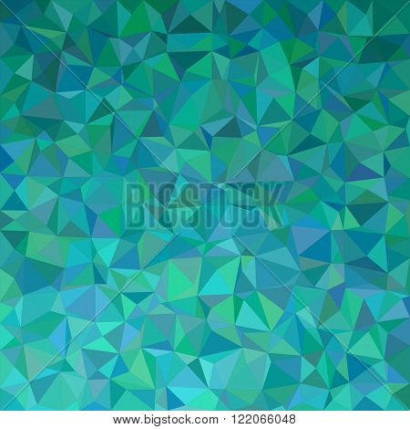 Teal irregular triangle mosaic vector background design