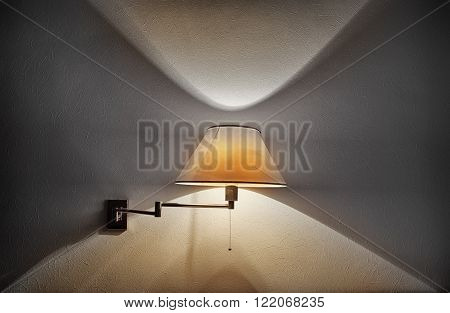 Wall sconce lamp. Element of home design
