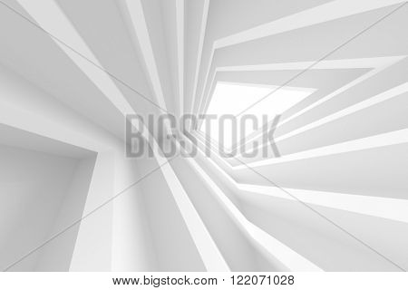 3d White Abstract Tunnel Background