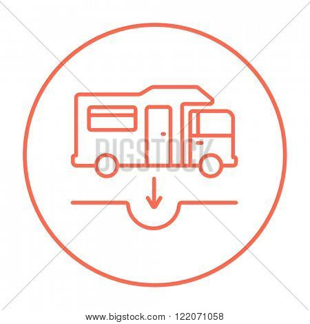 Motorhome and sump line icon.
