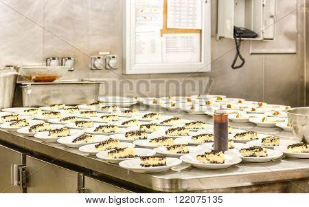 Sauce Bottle for Dessert Prep area in commercial kitchen