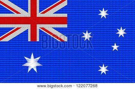 Australian flag machine embroidery design pattern .