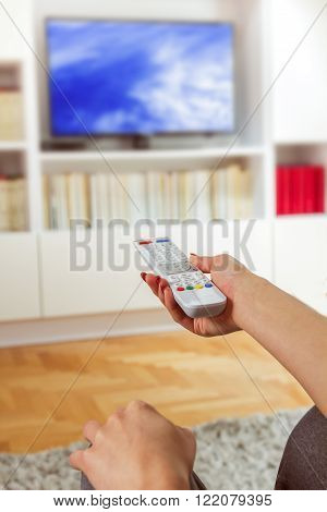 Changing Channel On Tv