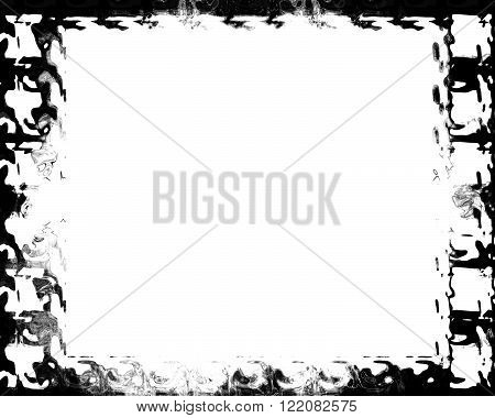 Grunge filmstrip on a solid white background