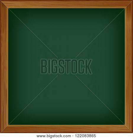 vector illustration of Green blank blackboard