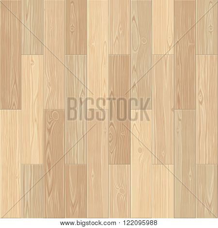 Light parquet seamless floor texture. Editable vector pattern in swatches.