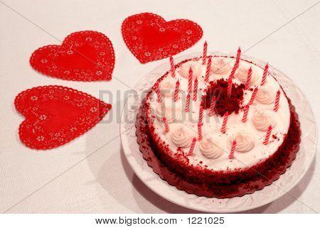 Valentine Geburtstagstorte
