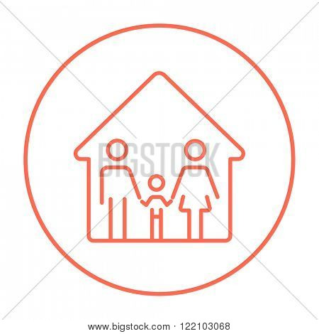 Family house line icon.